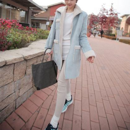 Fashion Polyester Sherpa Warm Coat [grxjy56002471]