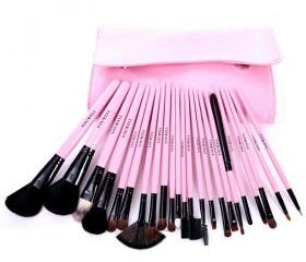 23 pcs Makeup Comestic Brushes Set Kit with Pouch in Pink [grxjy5140024]
