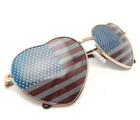 Love Heart Frame American Spirit Lenses Sunglasses Shades [grxjy5160053]