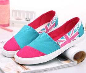 British Flag Contrast Color Flat Slip On Loafer [grxjy5190542]