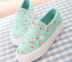 Casual Graffiti Slip On Platform Shoes [grxjy5190555]
