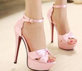 Fashion Super Stiletto High-heeled Peep-toe Strap Platform Sandal [grxjy5190568]