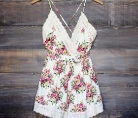 Fashion V-neck Lace Spliced Floral Print Sling Jumpsuits [gyxh0620]