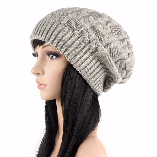 Knitting Eastern European Style : European style chic pure color knit beanie grxjy