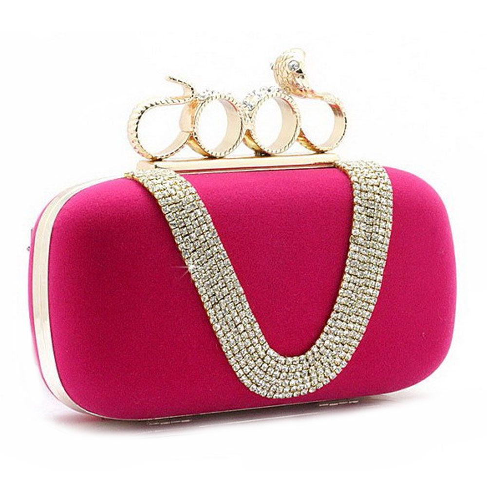 Purse : Luxury Small Clutch Purse Bag Studded with Sparkly Rhinestones ...