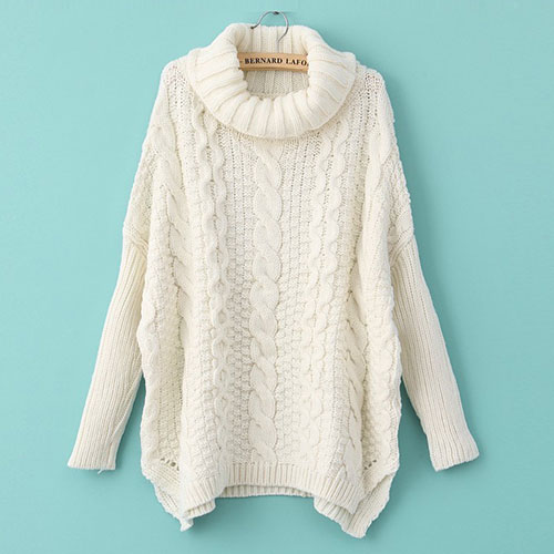Knitting Eastern European Style : Grxjy european style high collar pure color knit